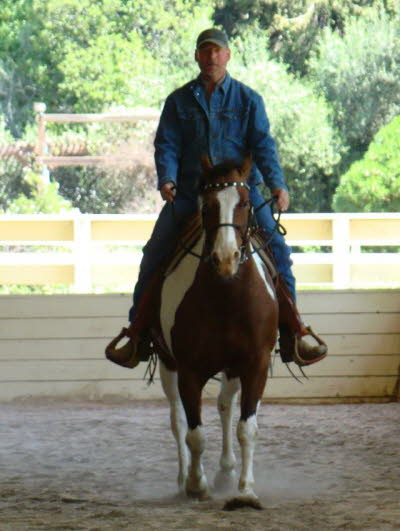 Rick and Badger were new to these clinics. Rick learned to post and sit the trot